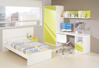 Детска стая в бяло и жълто-зелено