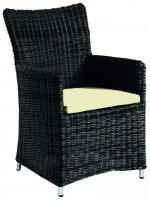 Стол от синтетичен ратан с възглавница -  157-2609