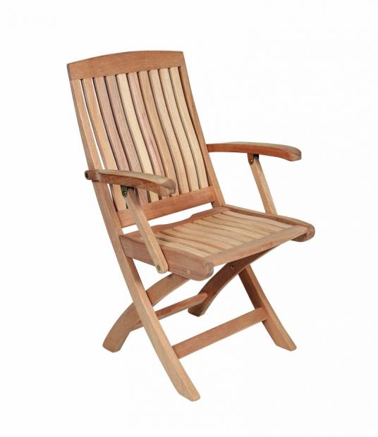 Сгъваем стол от махагон с подлакътници 66-2609