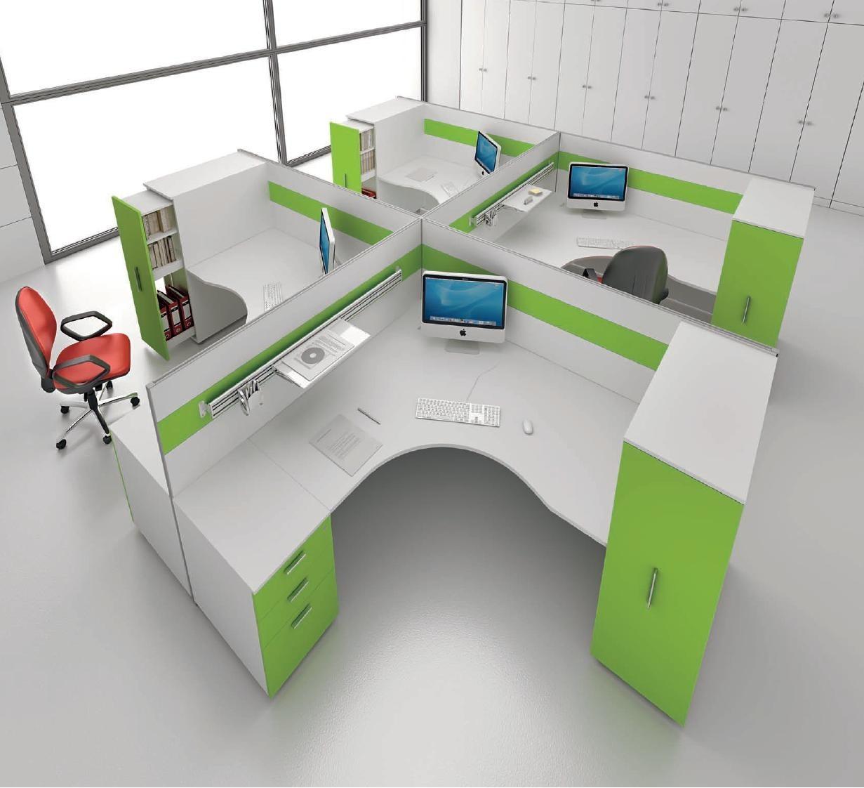 Модерен дизайн работни бюра детелина