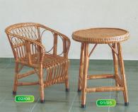 Комплект детска маса и стол от ракита