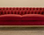 червени луксозни Дивани Chesterfield